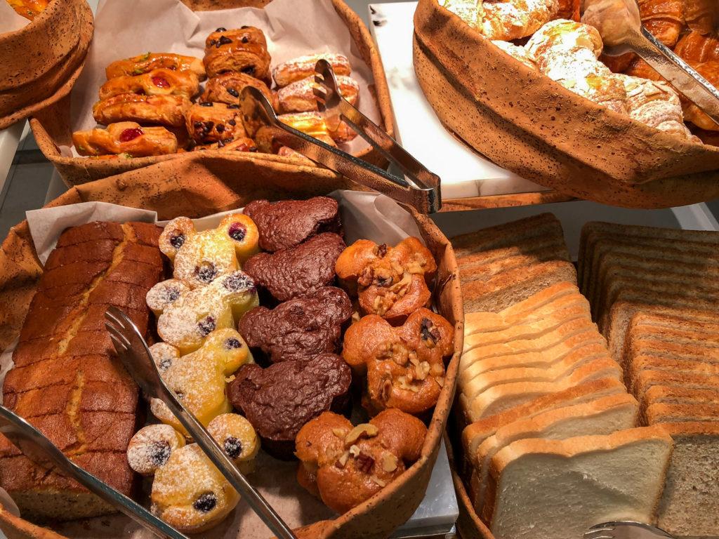 Mickey muffins at Disney Explorers Lodge at Hong Kong Disneyland
