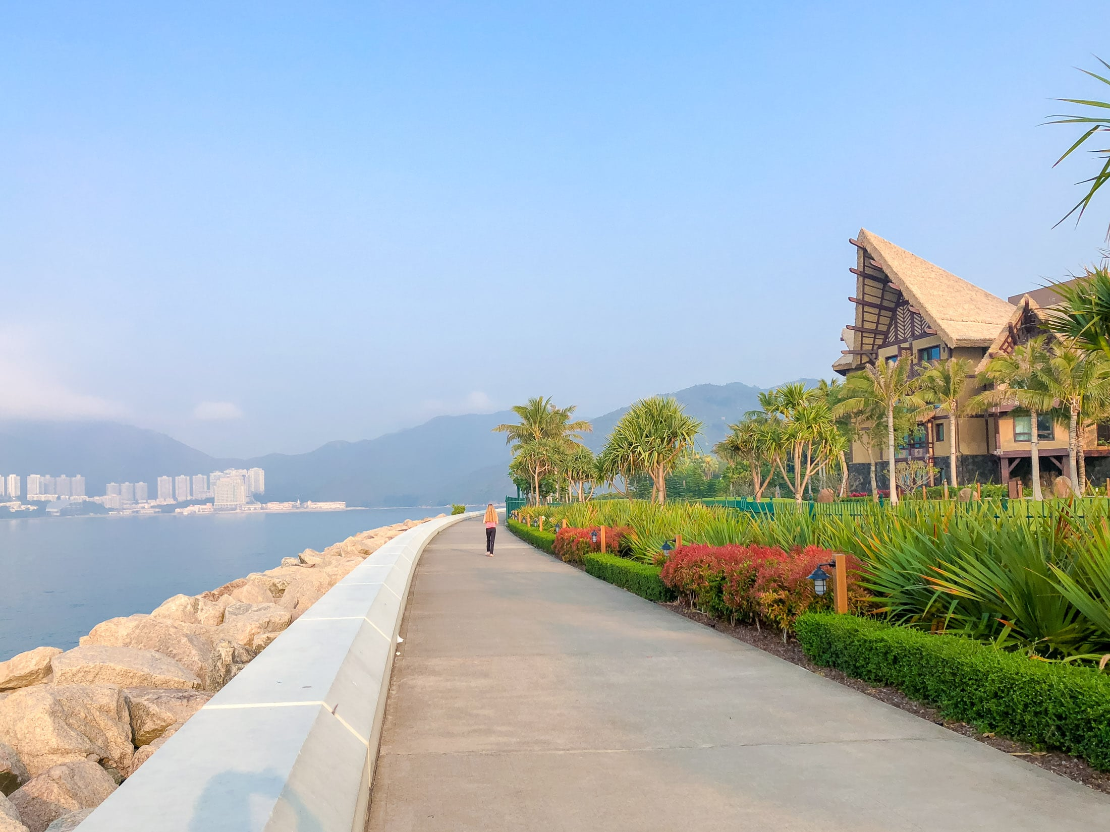 The Waterfront between Hong Kong Disneyland hotels, park and pier