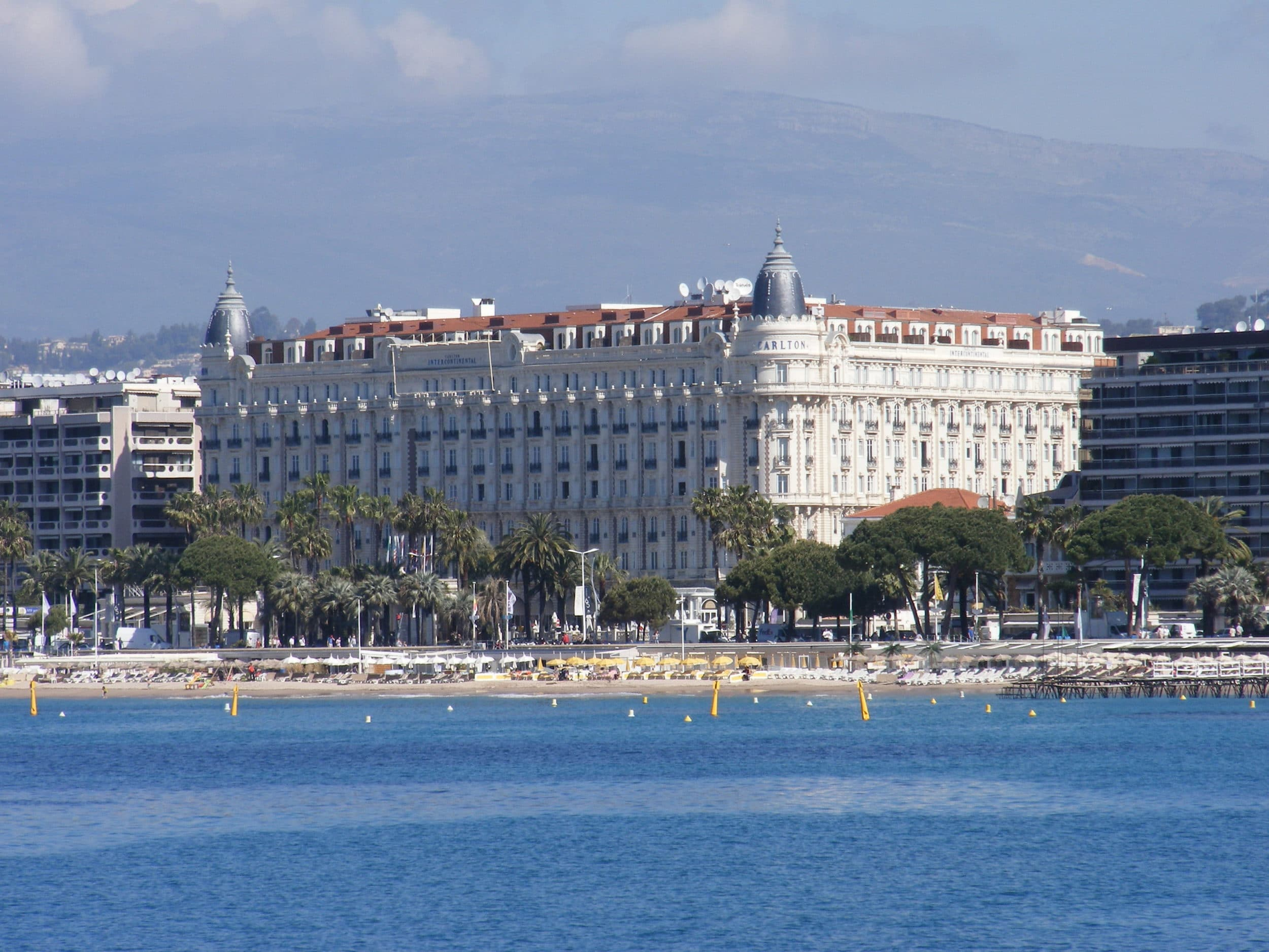 Hotel Carlton in Cannes has been in many movies.