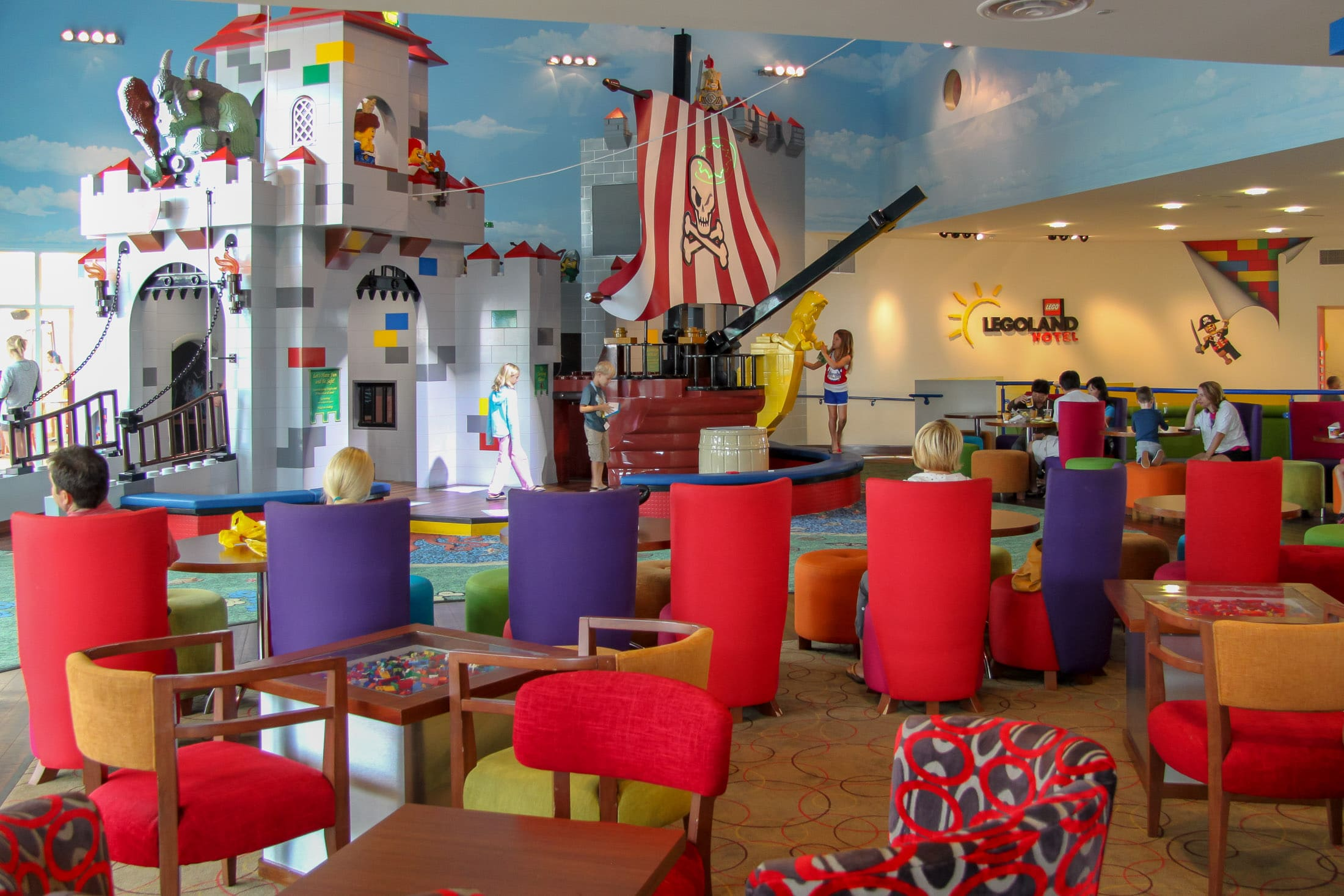 LEGO pits and play structure at LEGOLAND Hotel