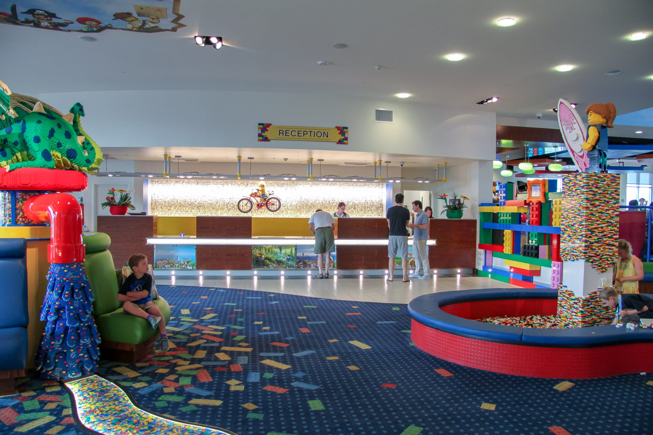 LEGO pits and more in the LEGOLAND Hotel lobby