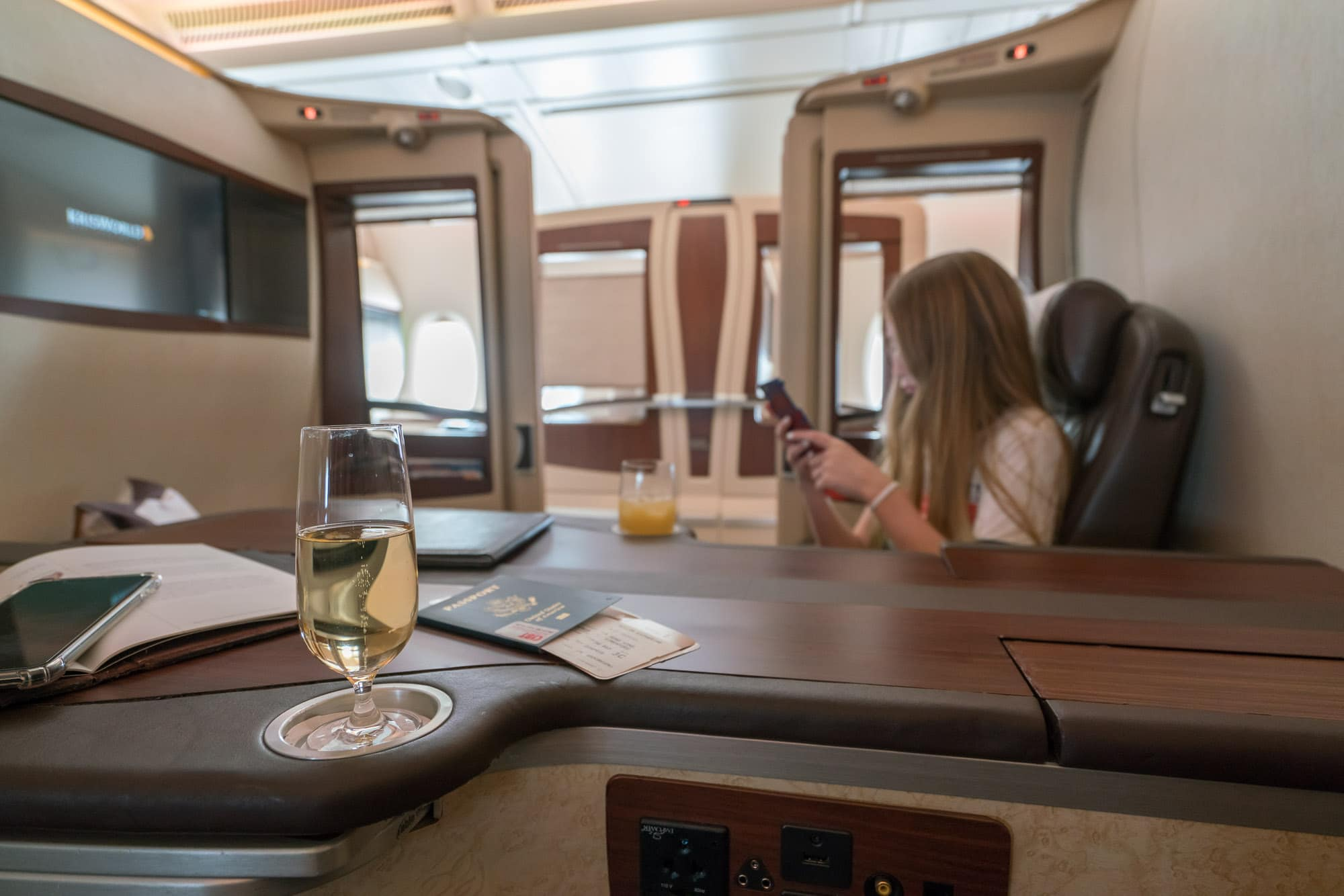 Fly Singapore Airlines first class suites