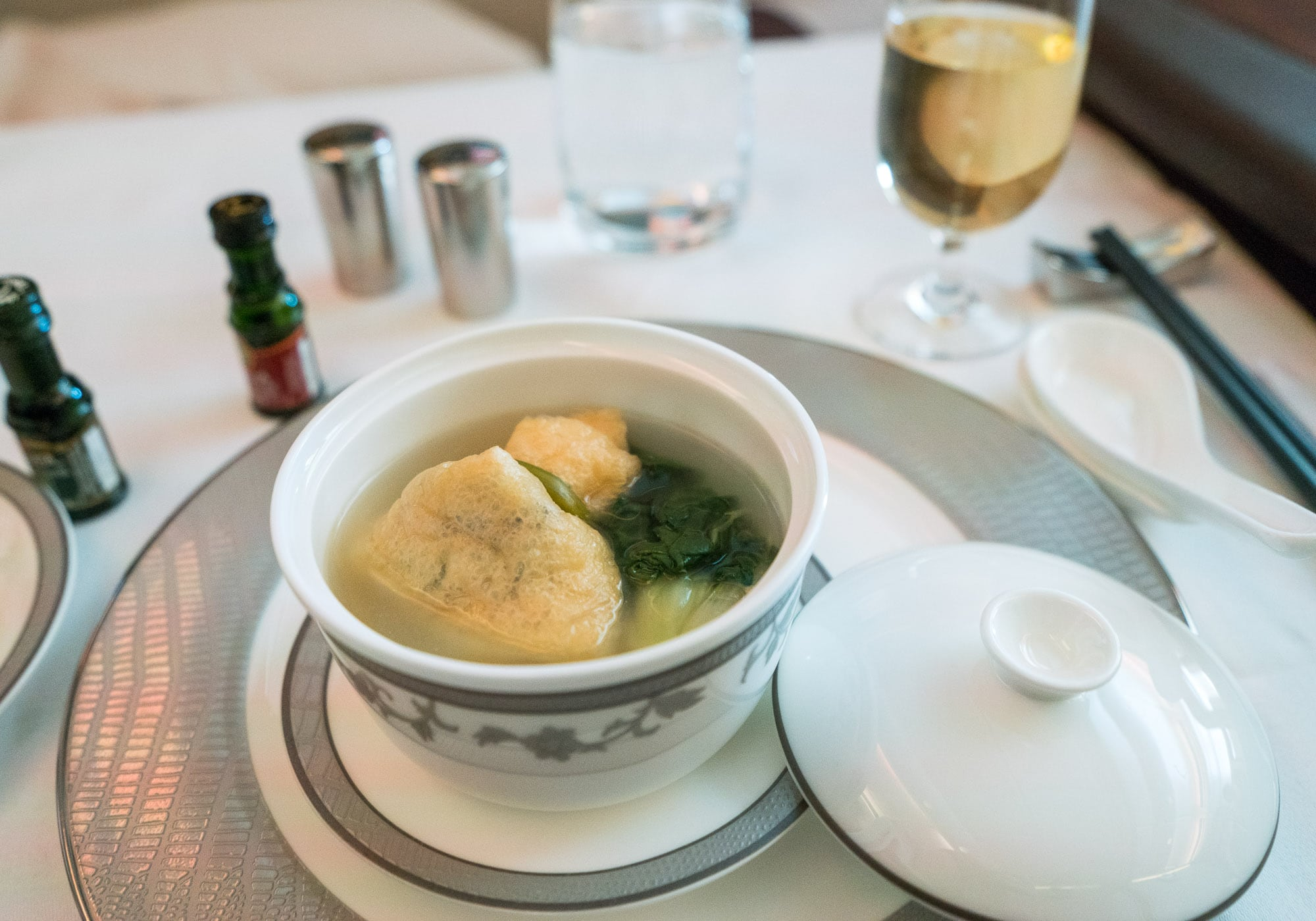 Chicken soup on Singapore Airlines suites class