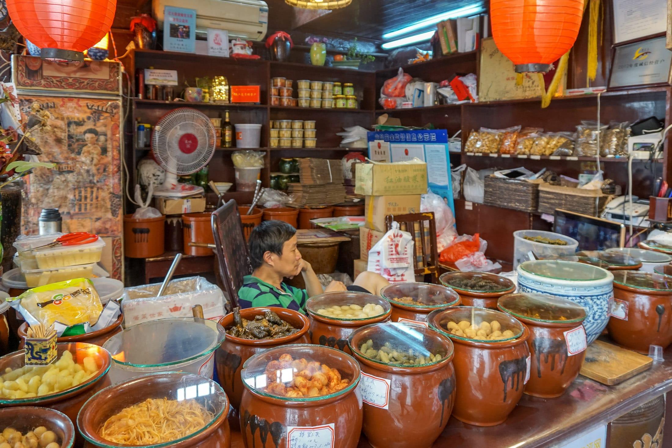 Zhujiajiao water town Shanghai street food