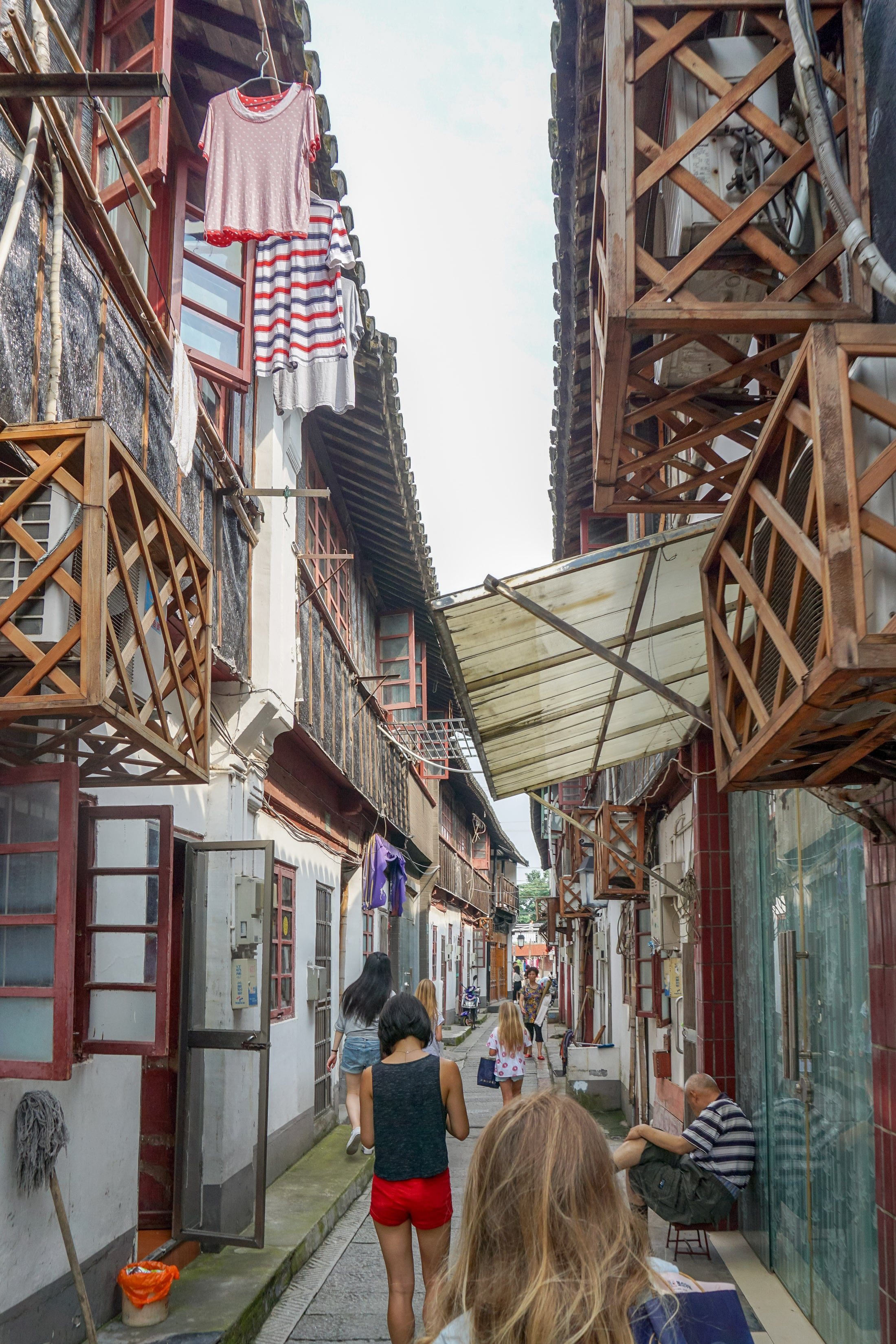 A small street at Zhujiajiao water town near Shanghai