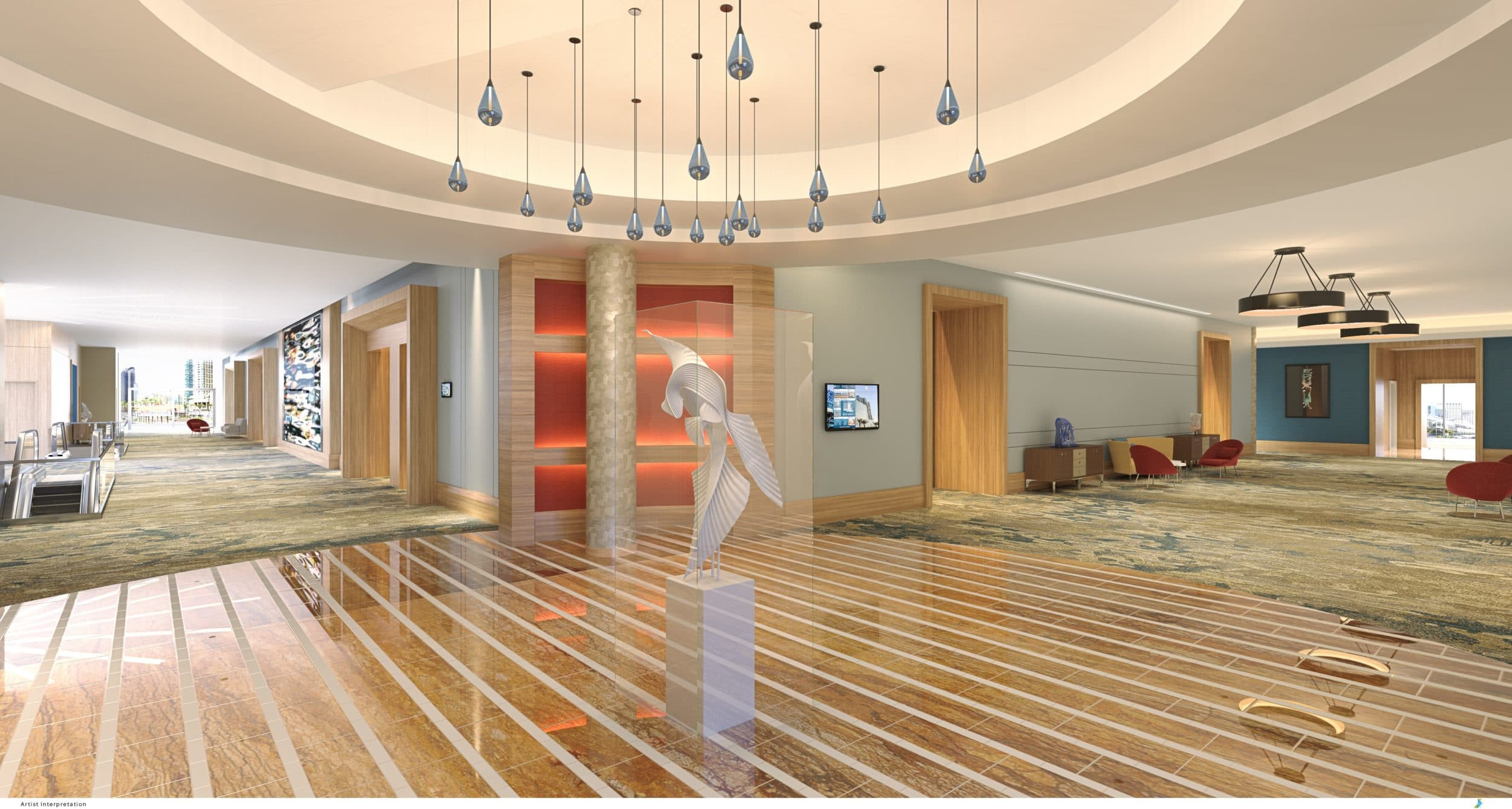 InterContinental San Diego lobby rendering