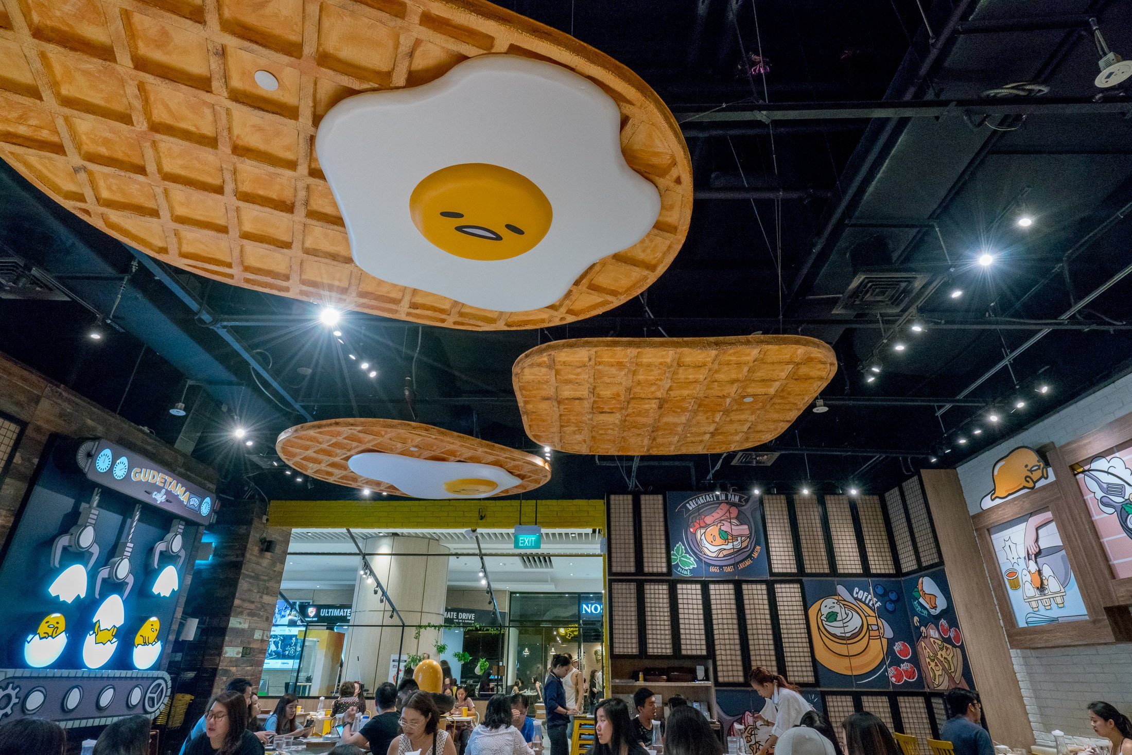 Inside the Gudetama Cafe in Singapore