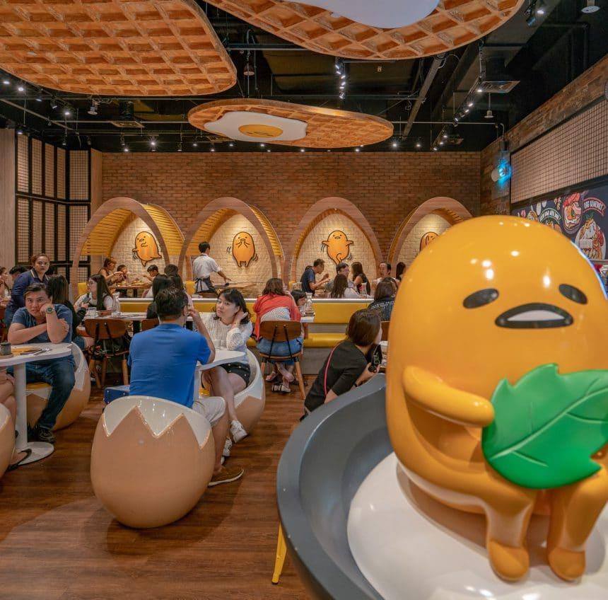 A Look Inside Singapore's Gudetama Cafe