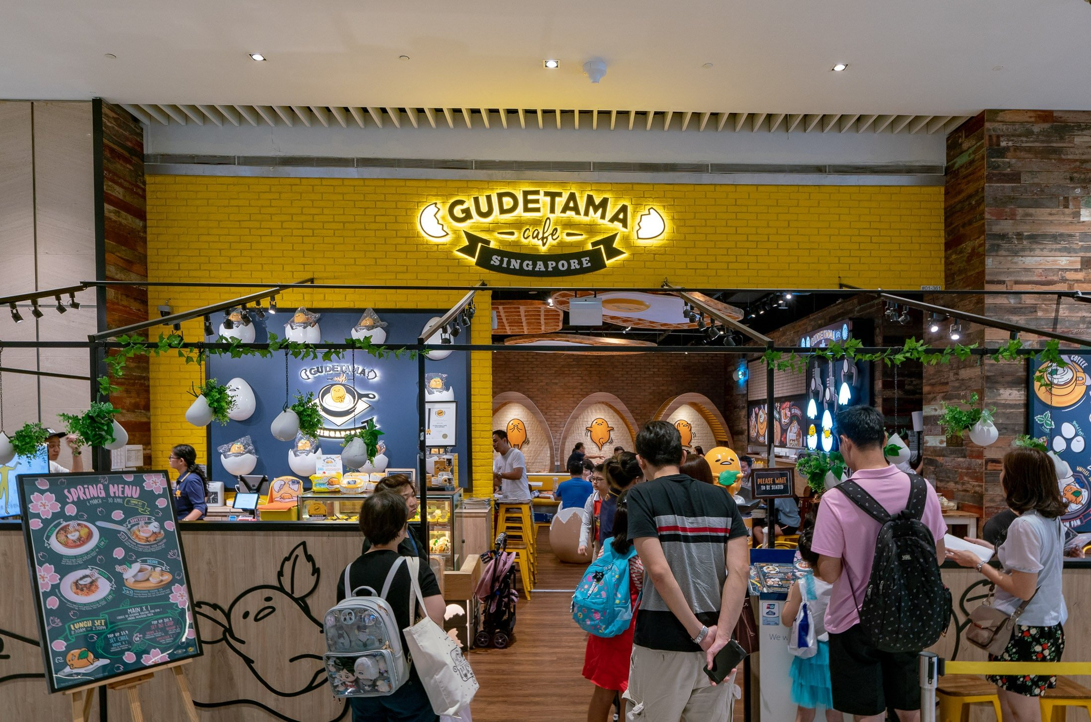 Gudetama Cafe Singapore inside Suntec City mall.