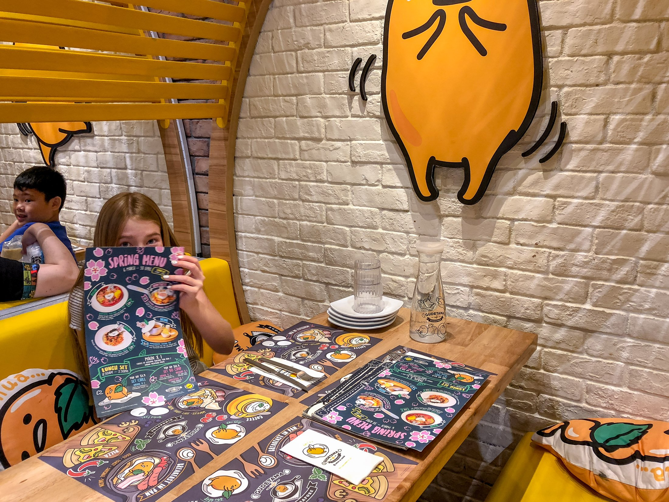 Booth at Gudetama Cafe Singapore