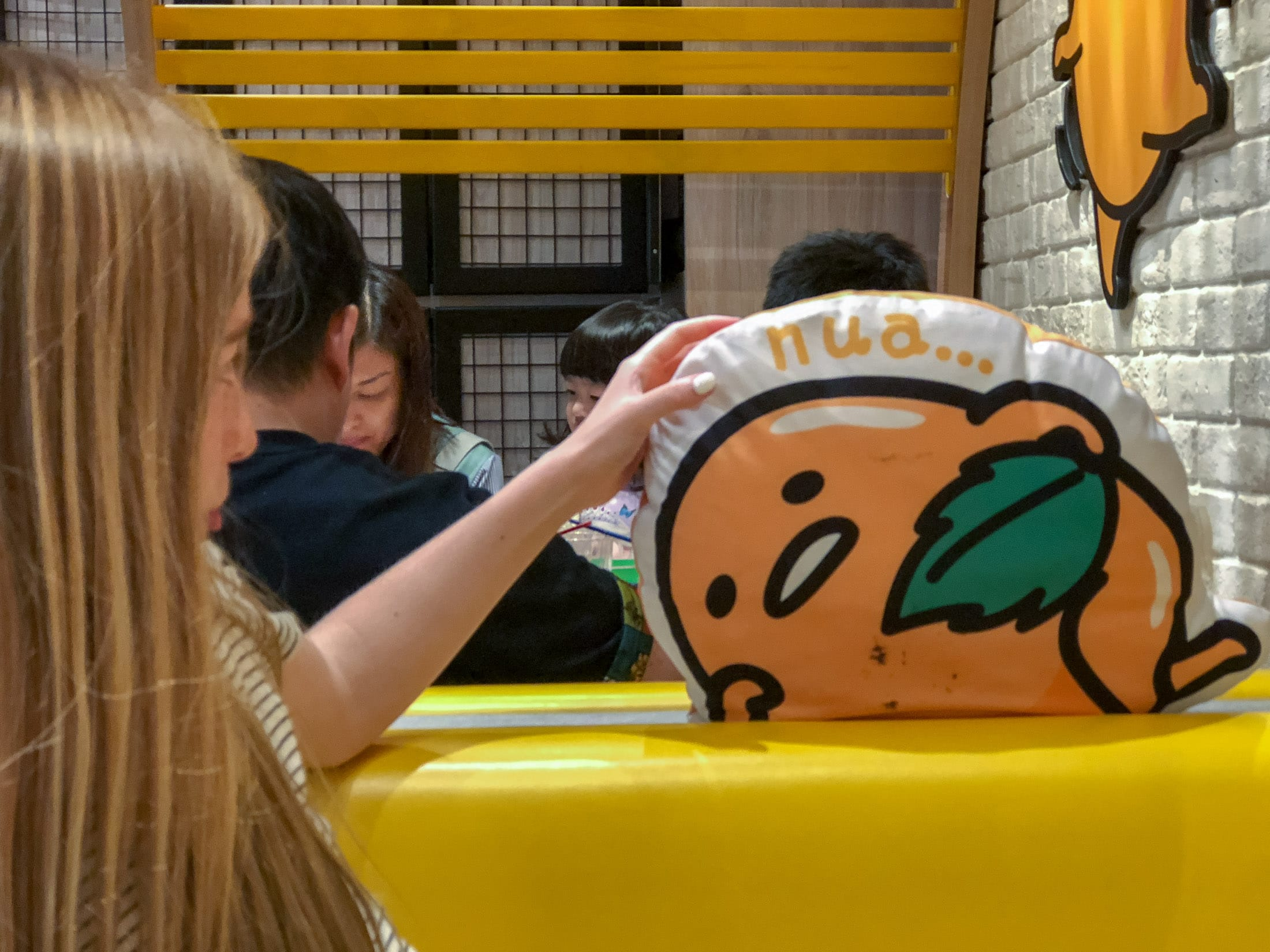 Pillow at Gudetama Cafe Singapore