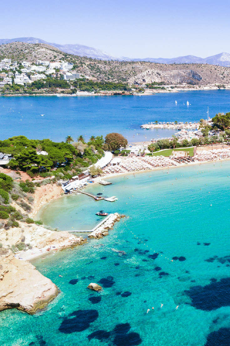 One of the best Athens beaches is Astir beach.