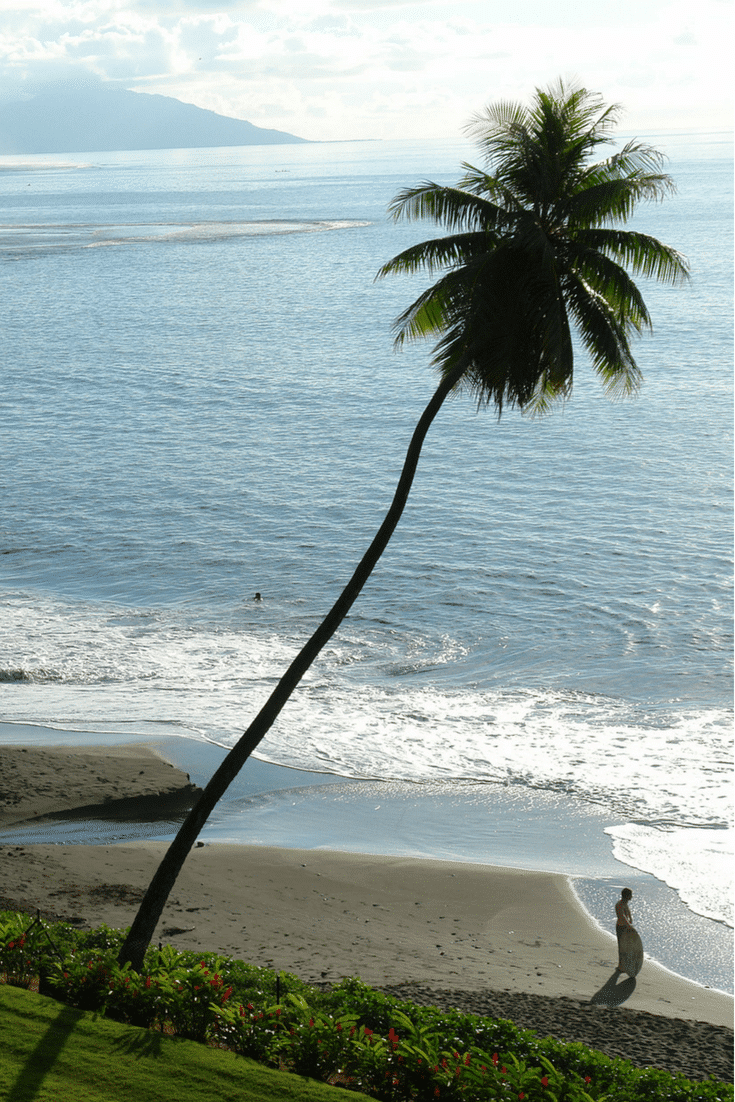 Where to go to the beach on the island of Tahiti (Air France flies direct from LAX to Papeete).