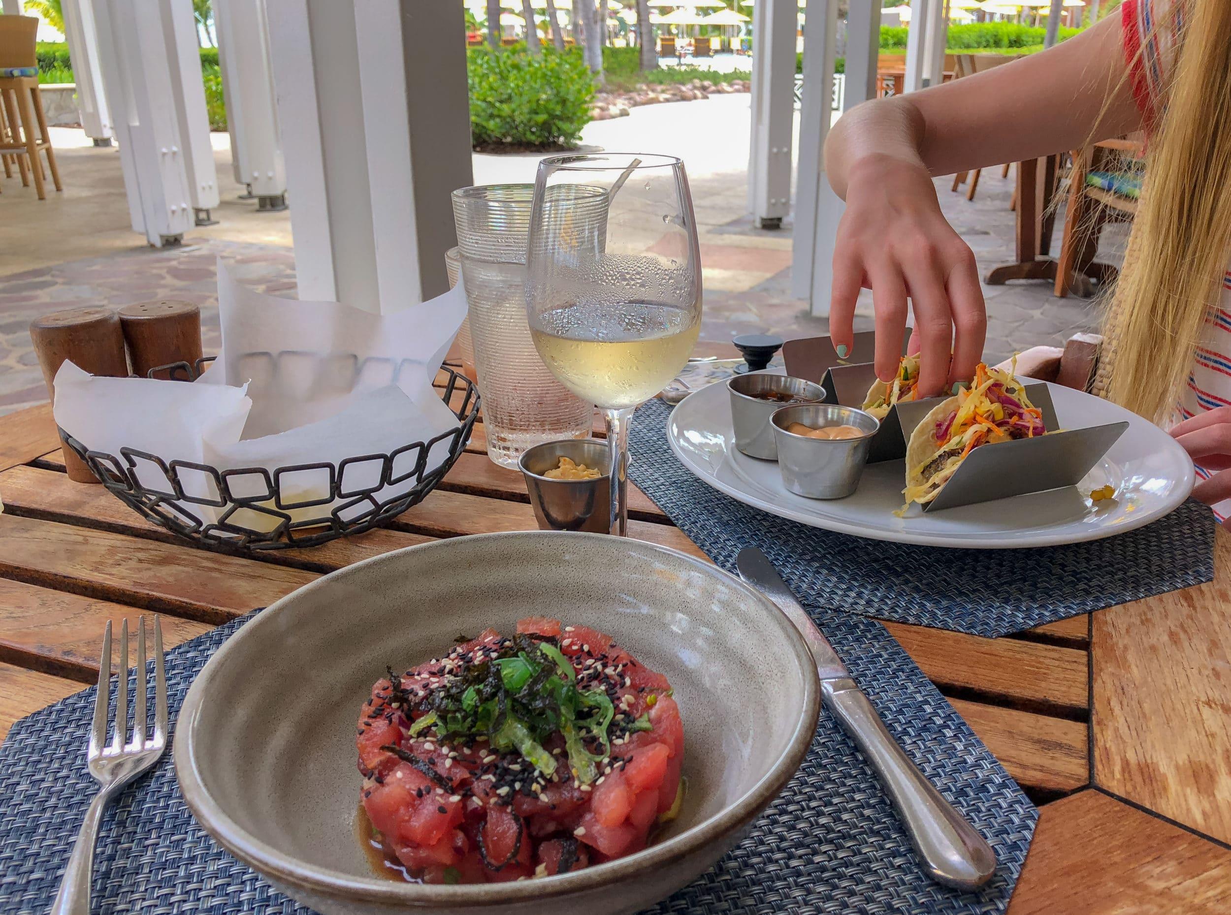 Four Seasons Nevis lunch