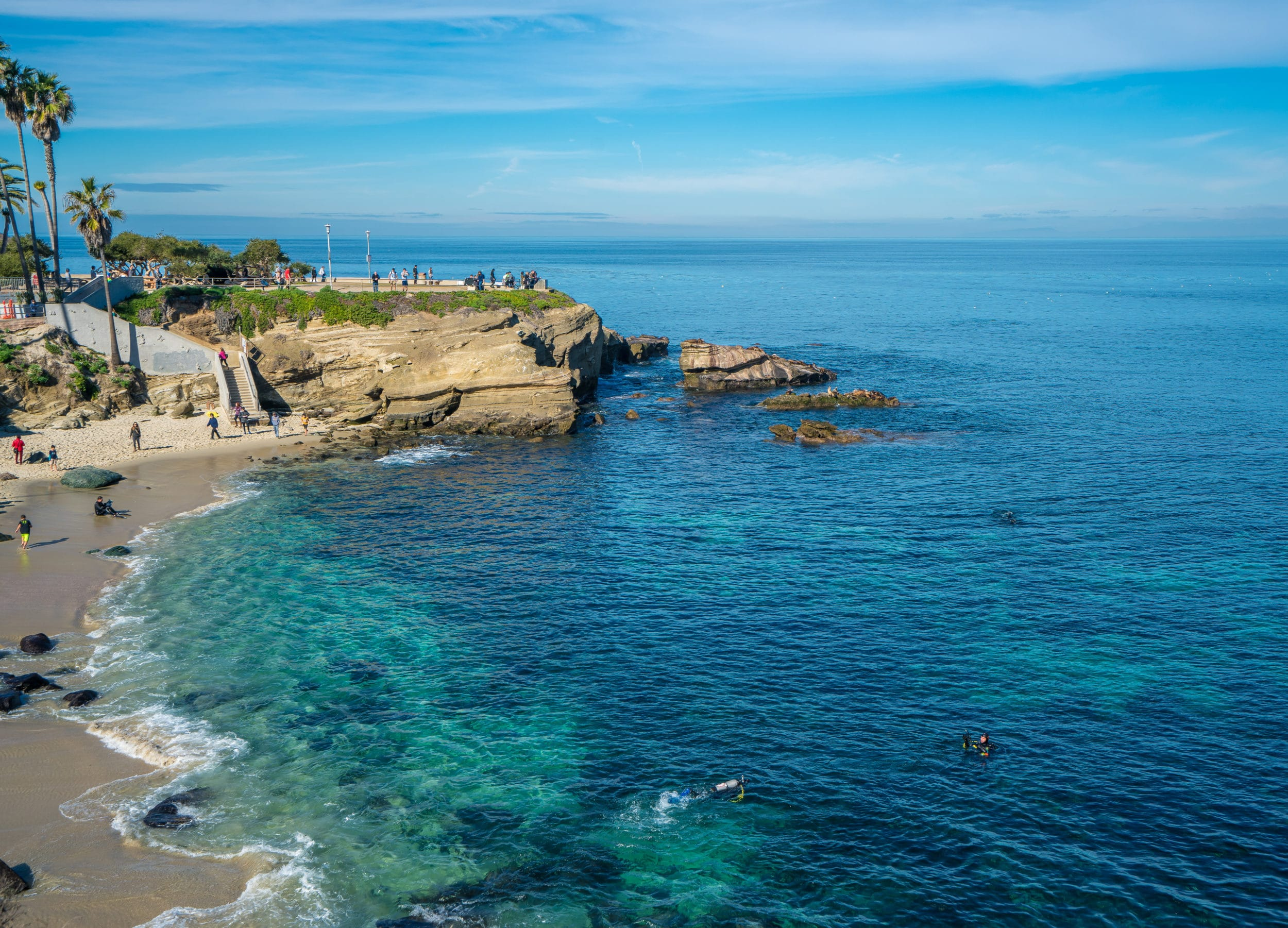 Free things to do in La Jolla: La Jolla Cove beach