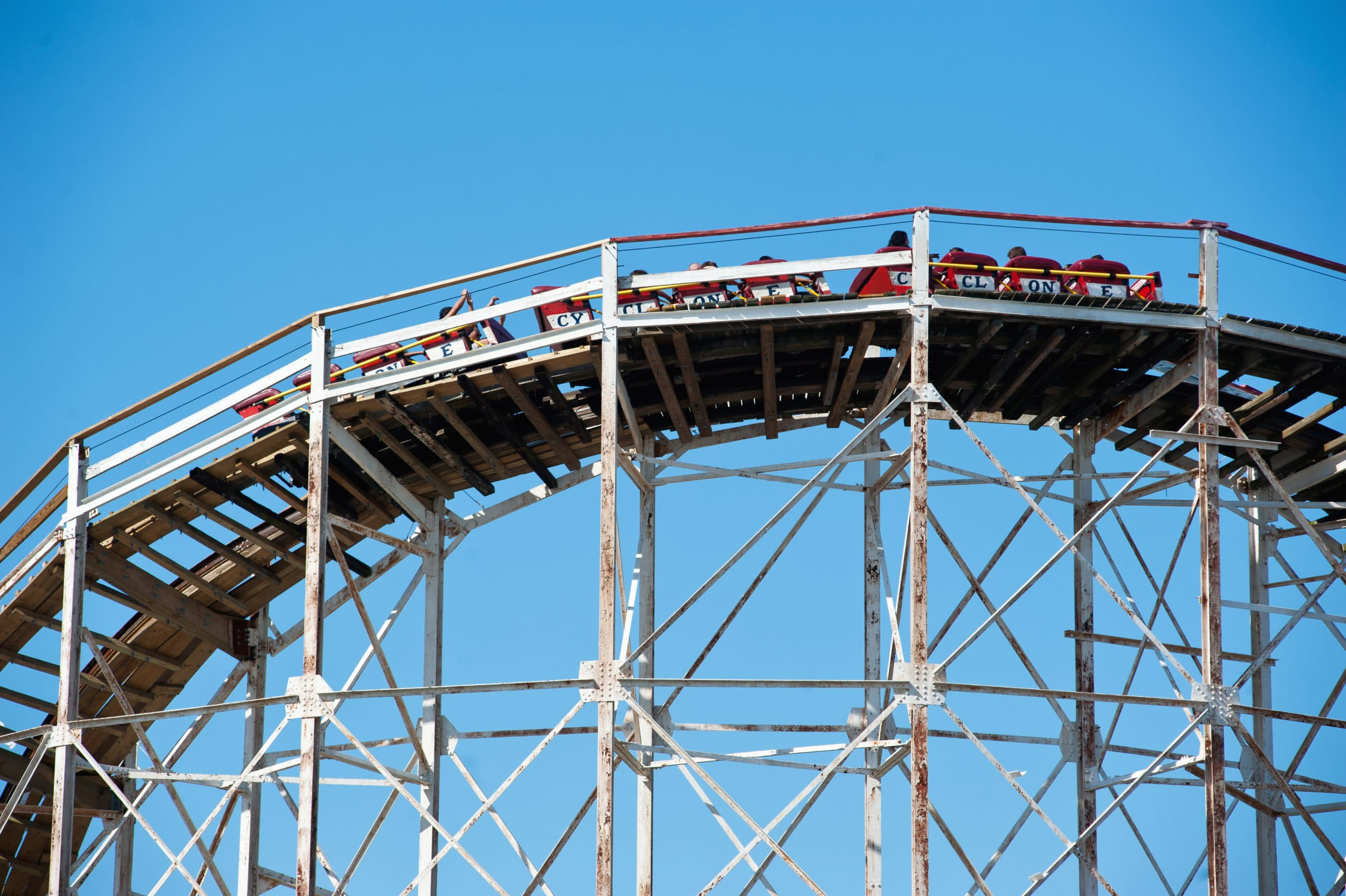 Cyclone roller coaster at Coney Island, New York