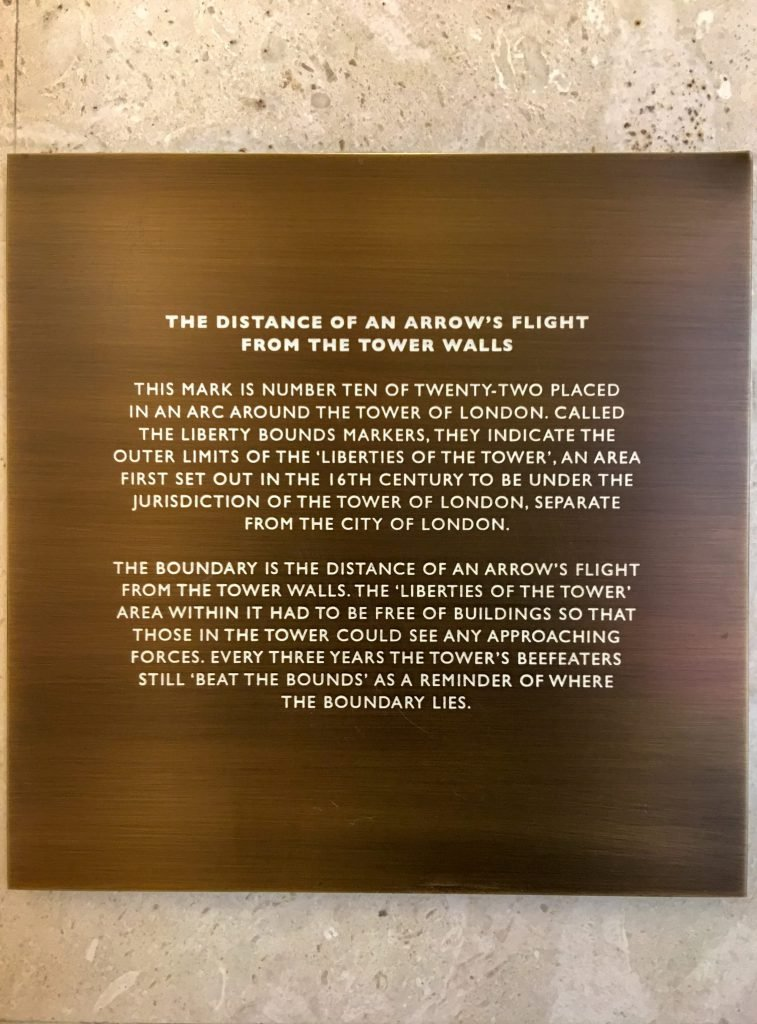 An explanation of the arrow marker inside Four Seasons London at Ten Trinity Square