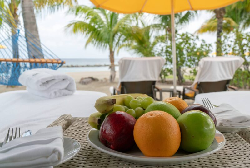four seasons nevis cabana fruit