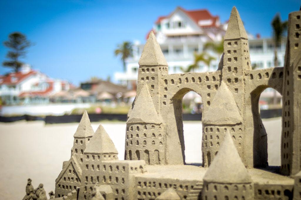 The Sandcastle Man at Hotel Del Coronado