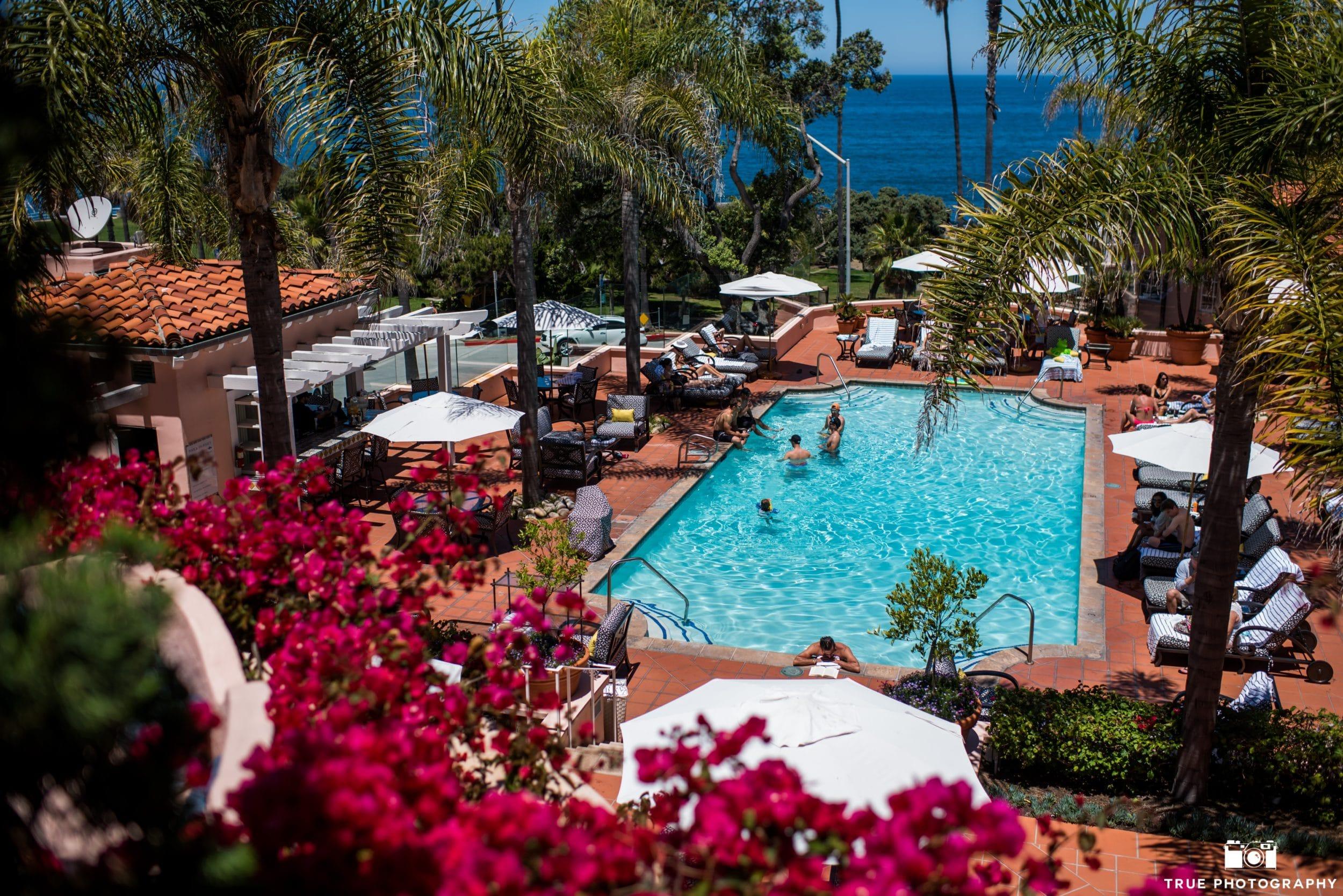 The pool at La Valencia Hotel in La Jolla