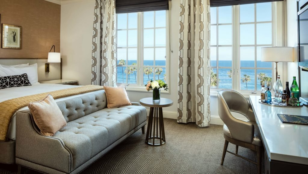 Classic King Ocean Room at La Valencia Hotel and Spa La Jolla
