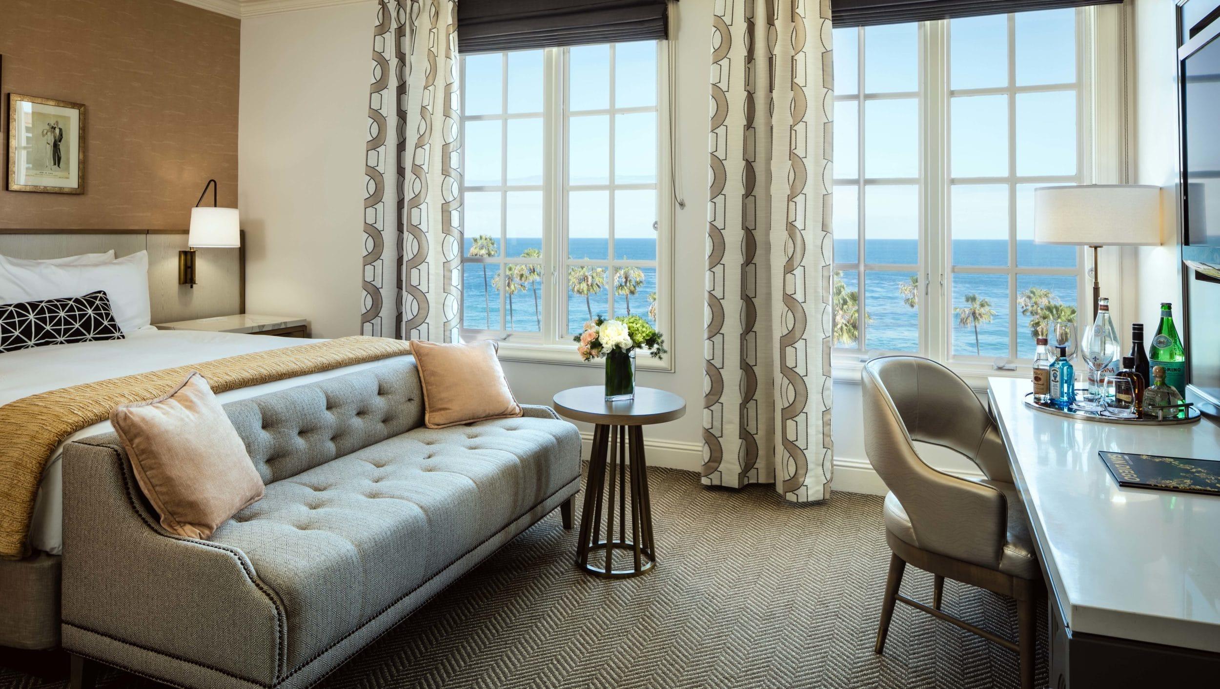 Classic King Ocean Room at La Valencia Hotel and Spa La Jolla