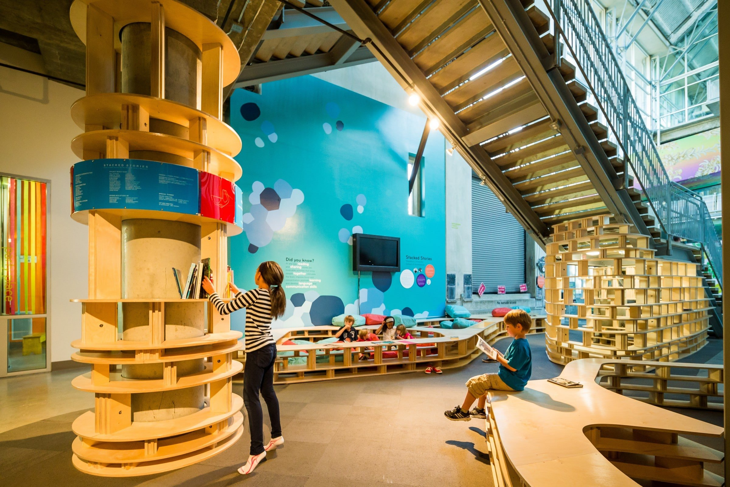 Best San Diego Museums: A girl plays in an exhibit at The New Children's Museum.