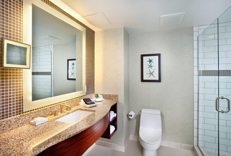 Cape Rey Carlsbad, a Hilton Resort bathroom