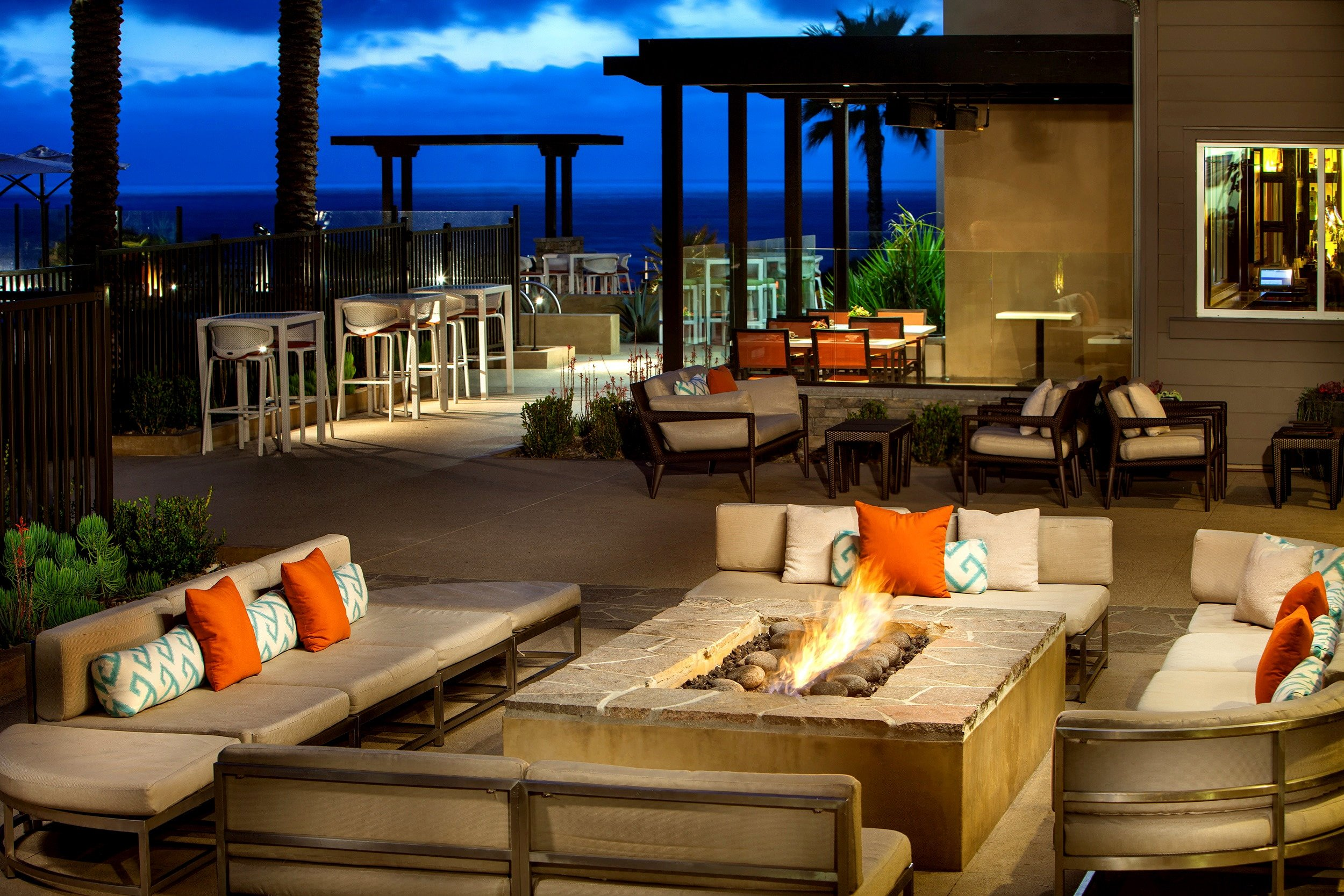 Outdoor patio at Cape Rey Carlsbad