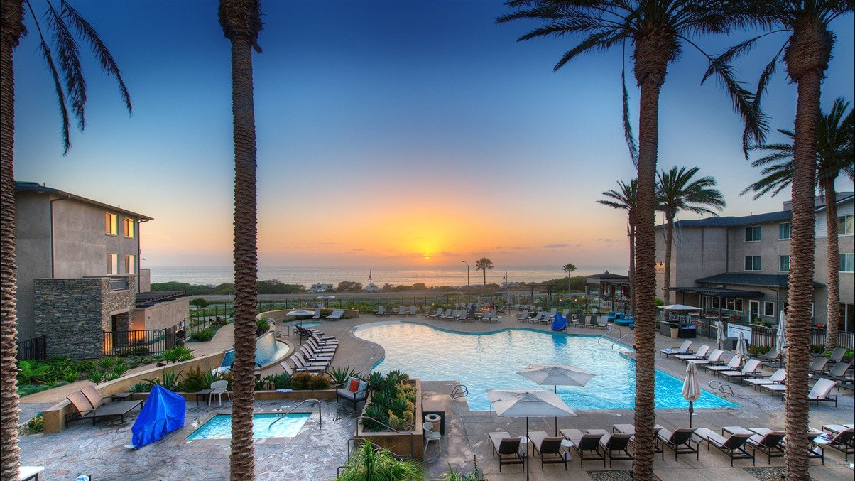 The pool at Cape Rey Carlsbad