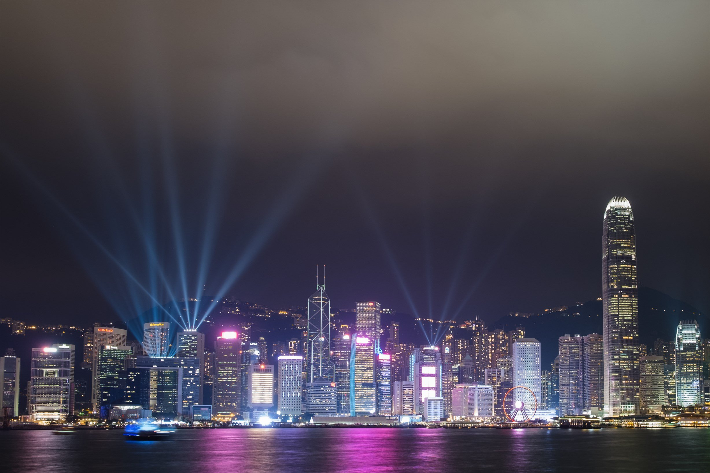 Hong Kong with kids: Watch the Symphony of Lights Show