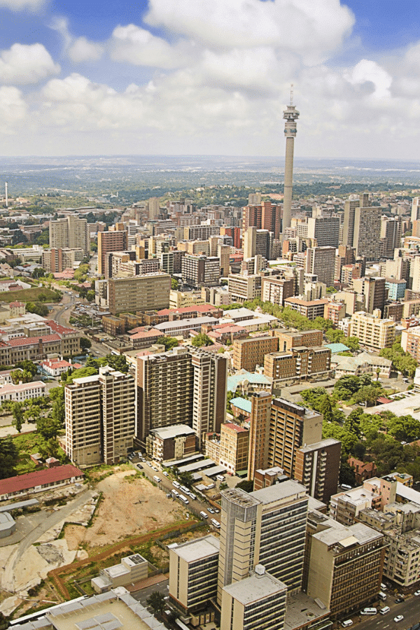 Take a city break in Johannesburg, South Africa.