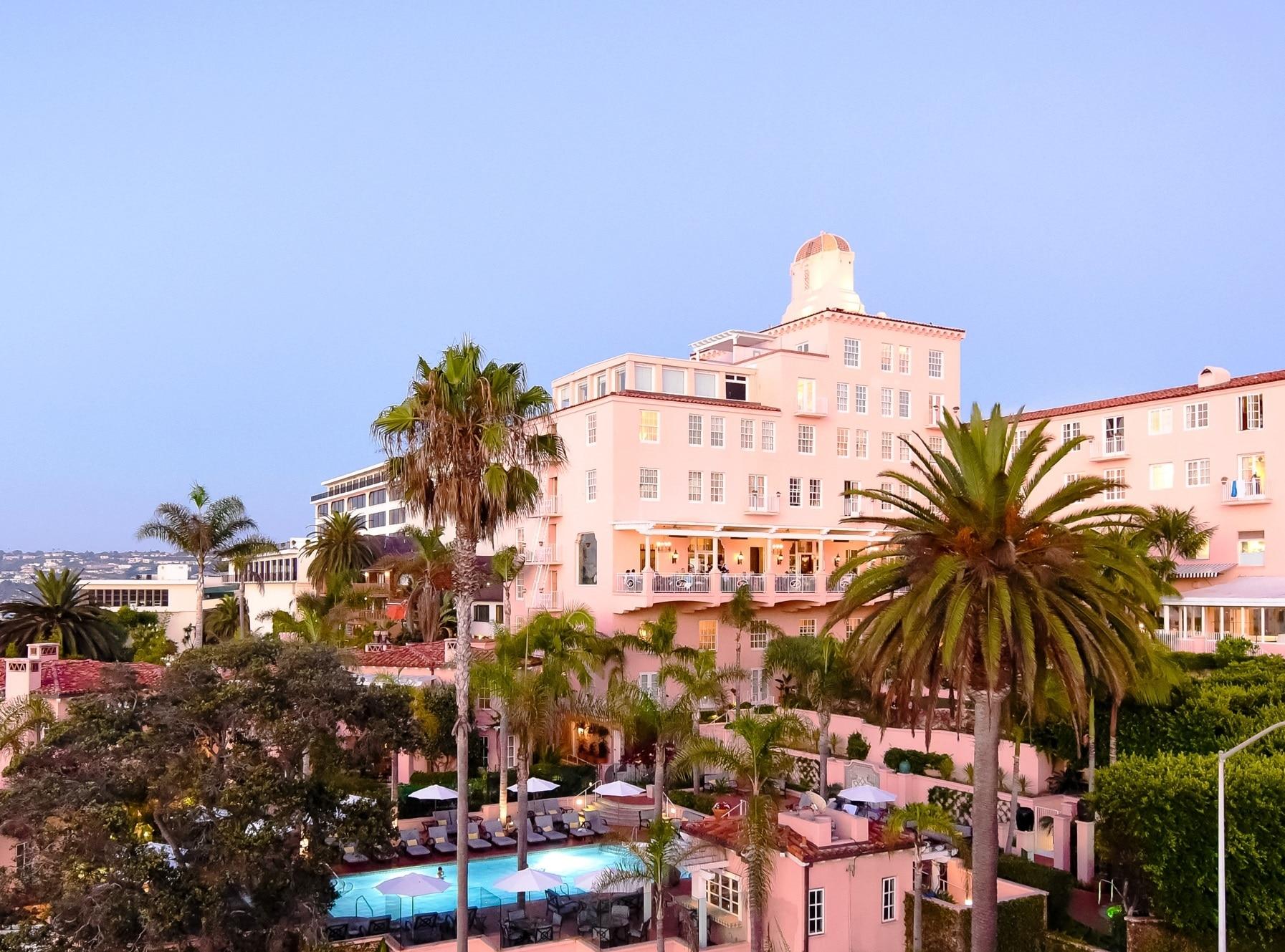 La Valencia Hotel is located on La Jolla's Prospect Street