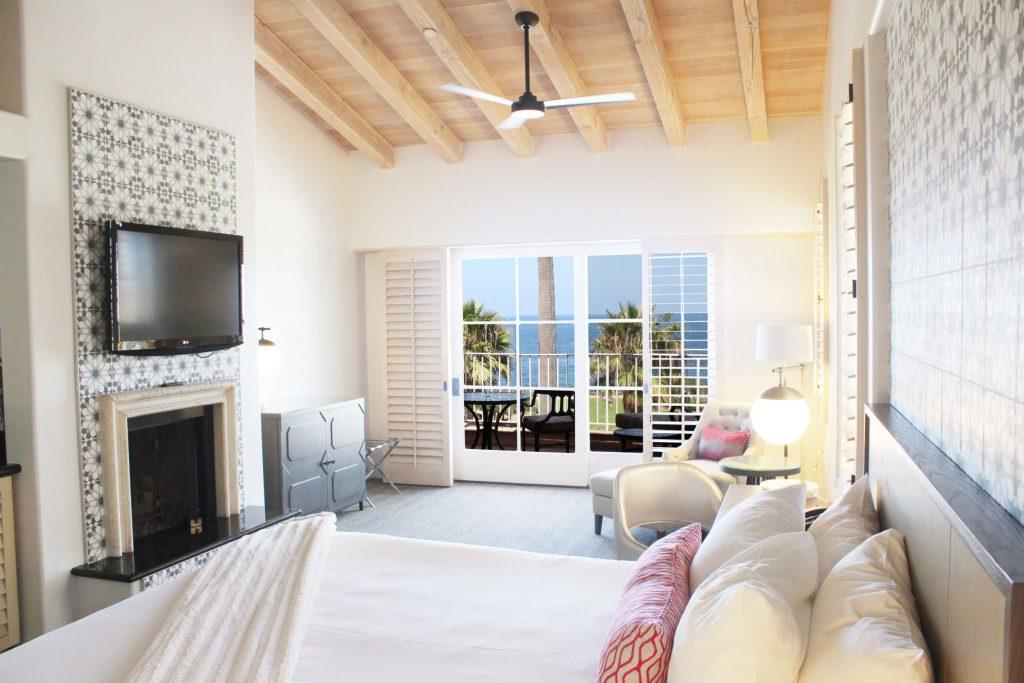 Villa King Ocean room at La Valencia Hotel and Spa La Jolla