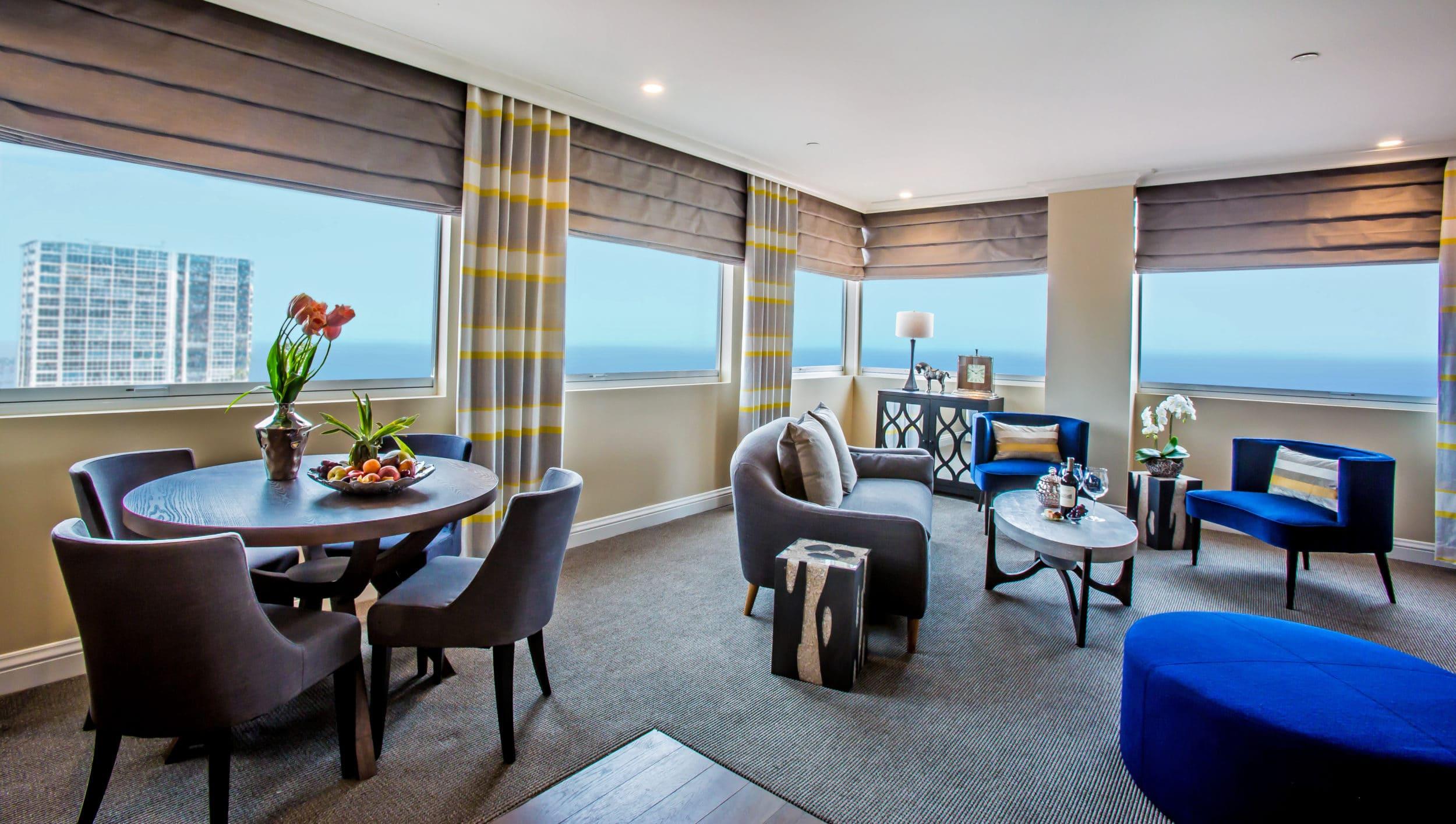 Sky Suite Living Room at La Valencia Hotel La Jolla