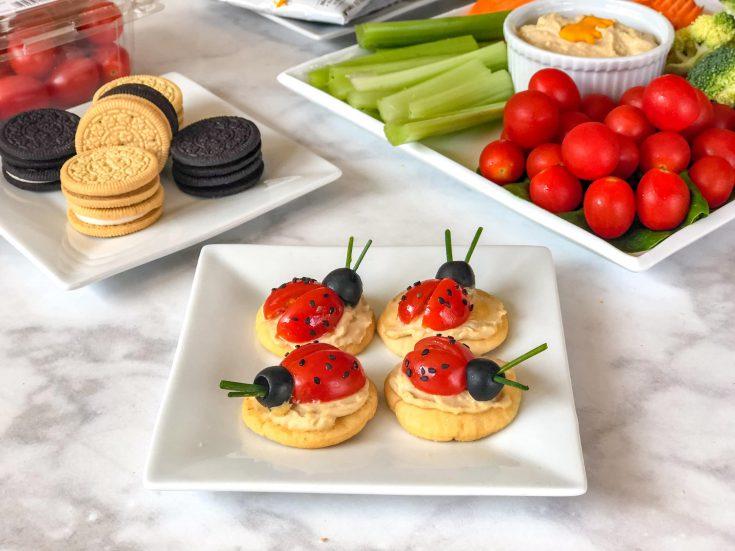 After School Snacks: Ladybug Tomato Crackers