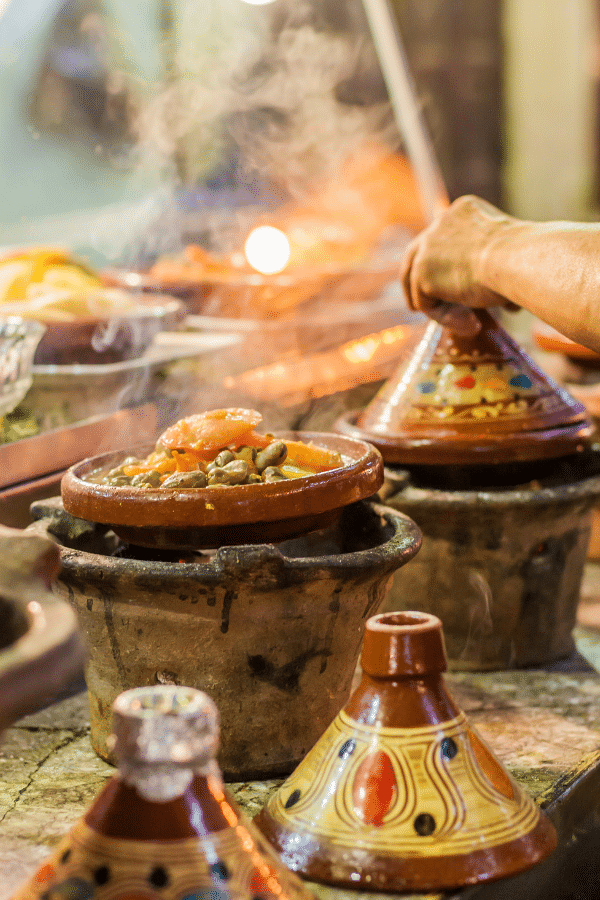 Enjoy tagine and other Moroccan cuisine in Marrakech.
