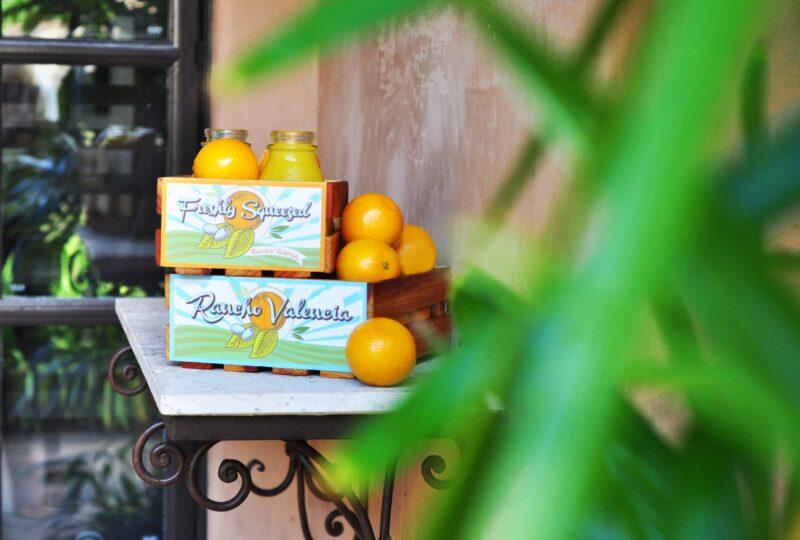 rancho valencia san diego hotel orange juice