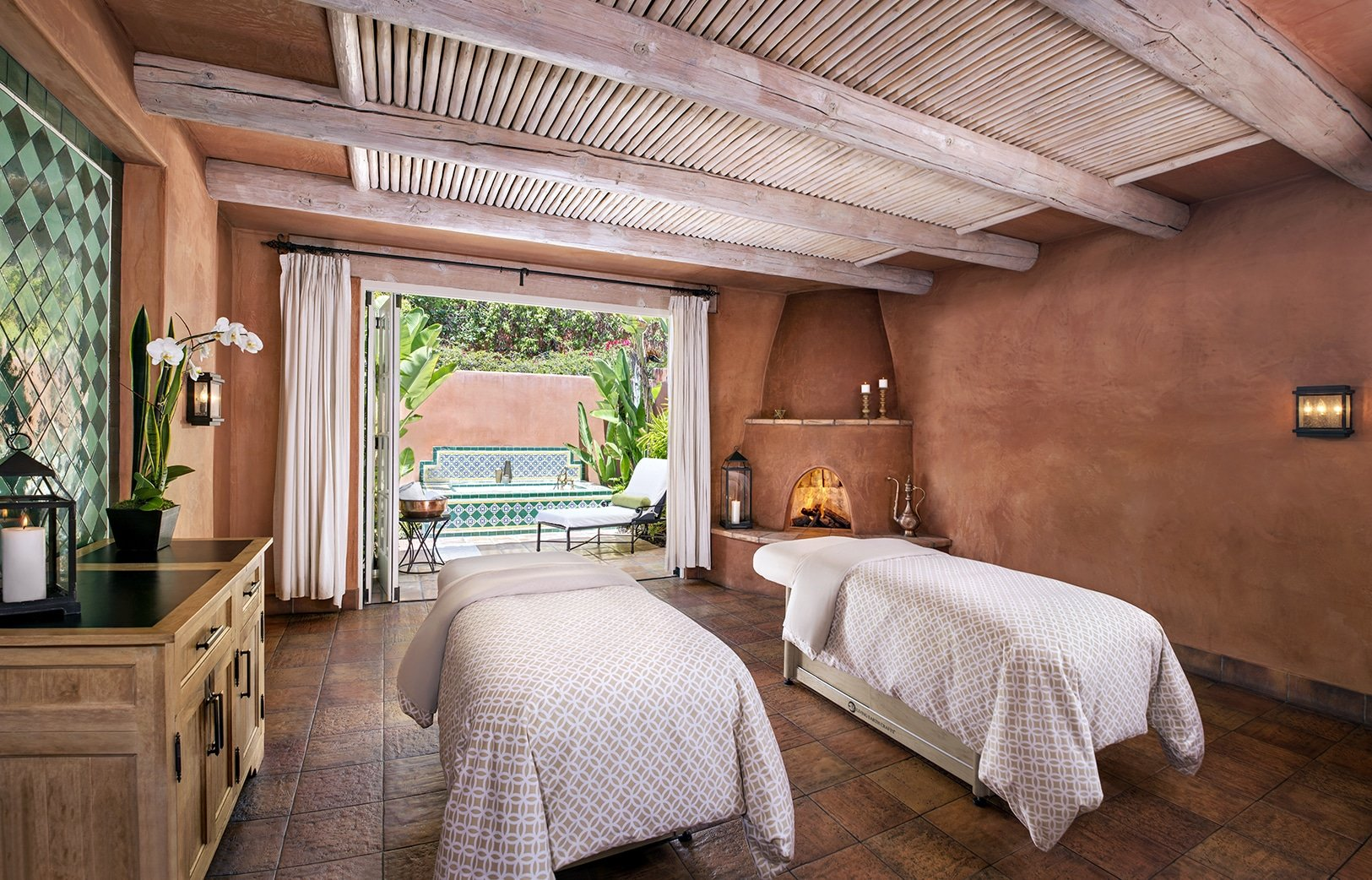 rancho valencia spa couples room