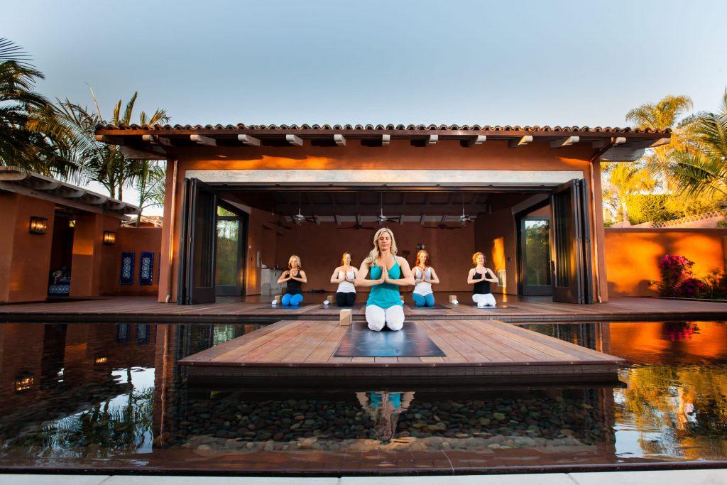 Rancho Valencia resort yoga pavilion