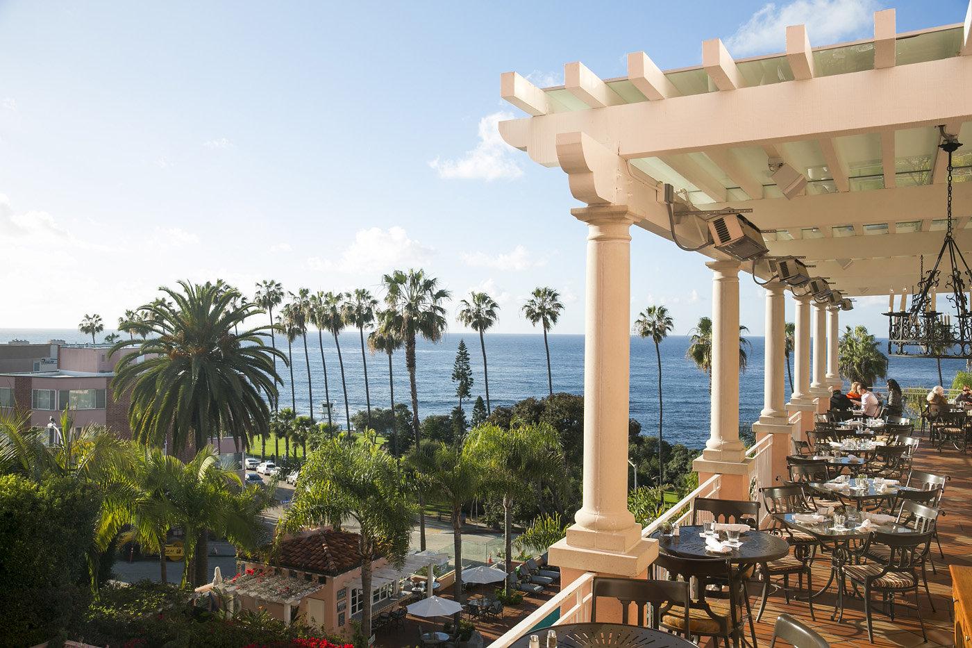 THE MED restaurant at La Valencia Hotel in La Jolla