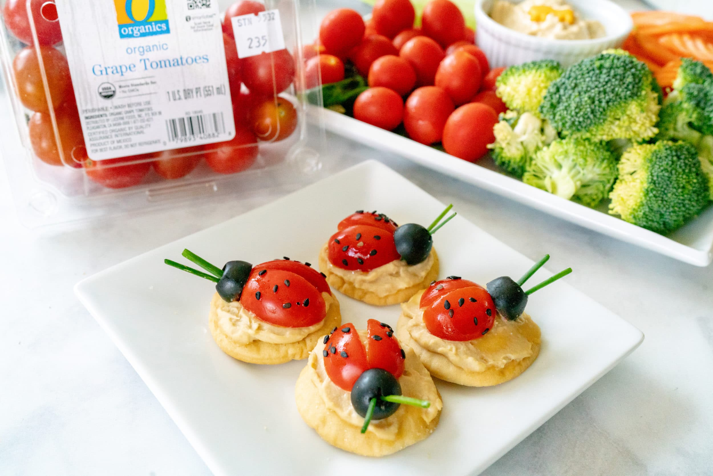 Grape tomato ladybug recipe