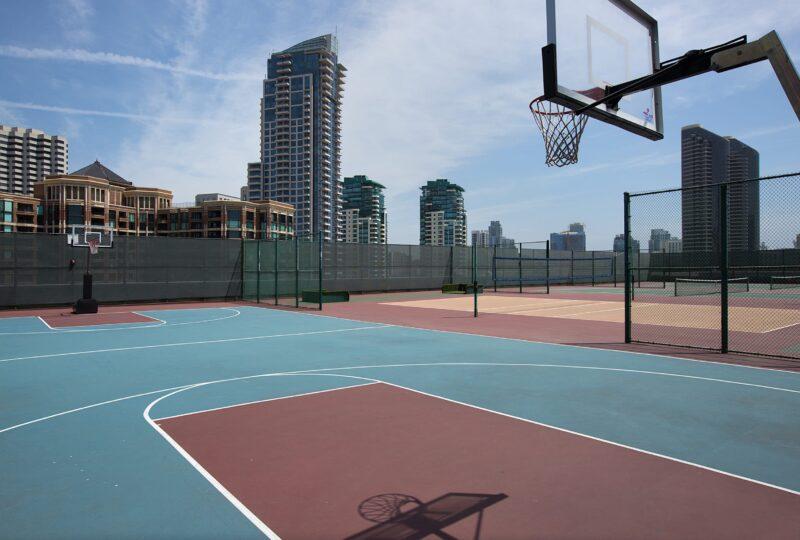 Manchester Grand Hyatt basketball court