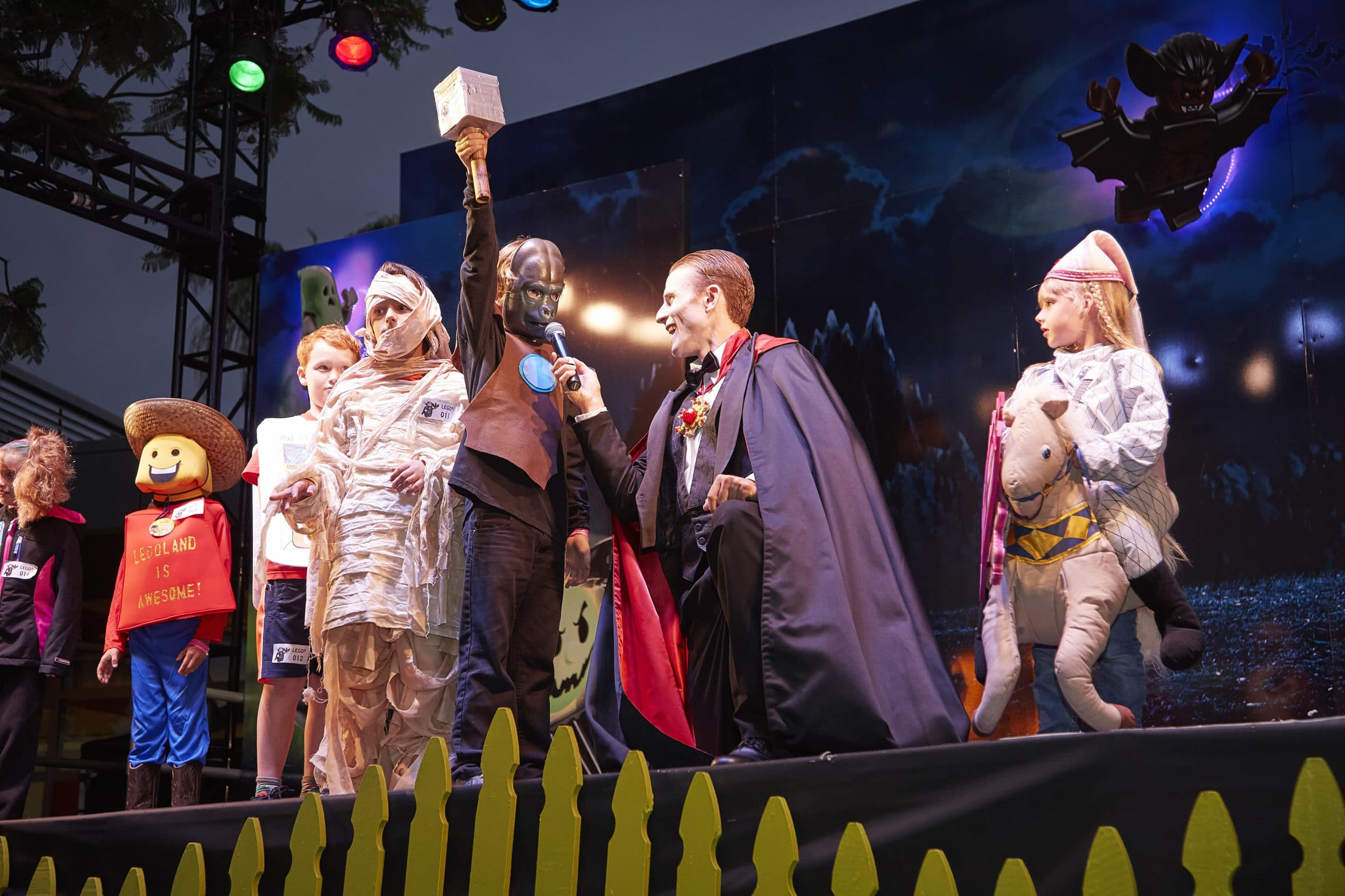Costume contest at Legoland Brick-or-Treat Party Nights
