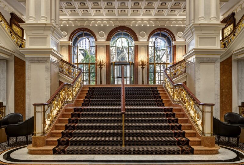 lotte new york palace staircase