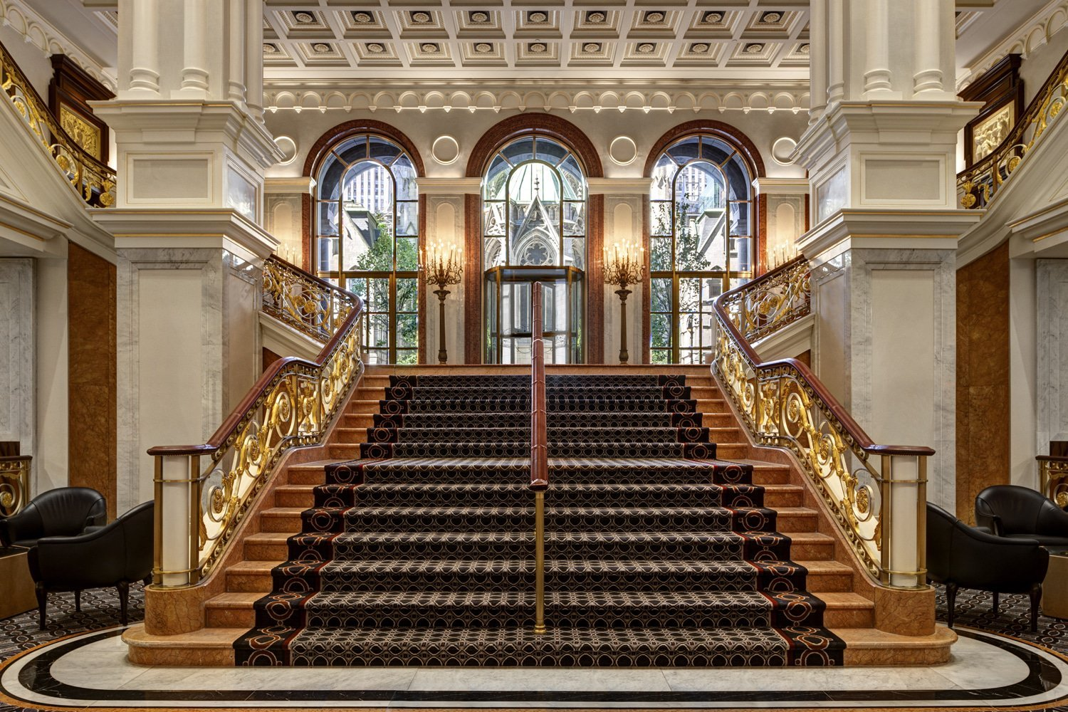 Staircase at Lotte New York Palace