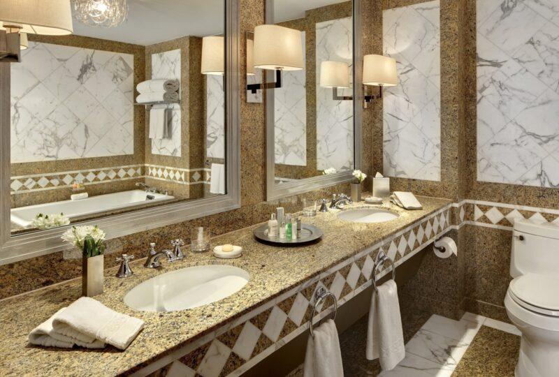 lotte new york palace tower corner suite bathroom