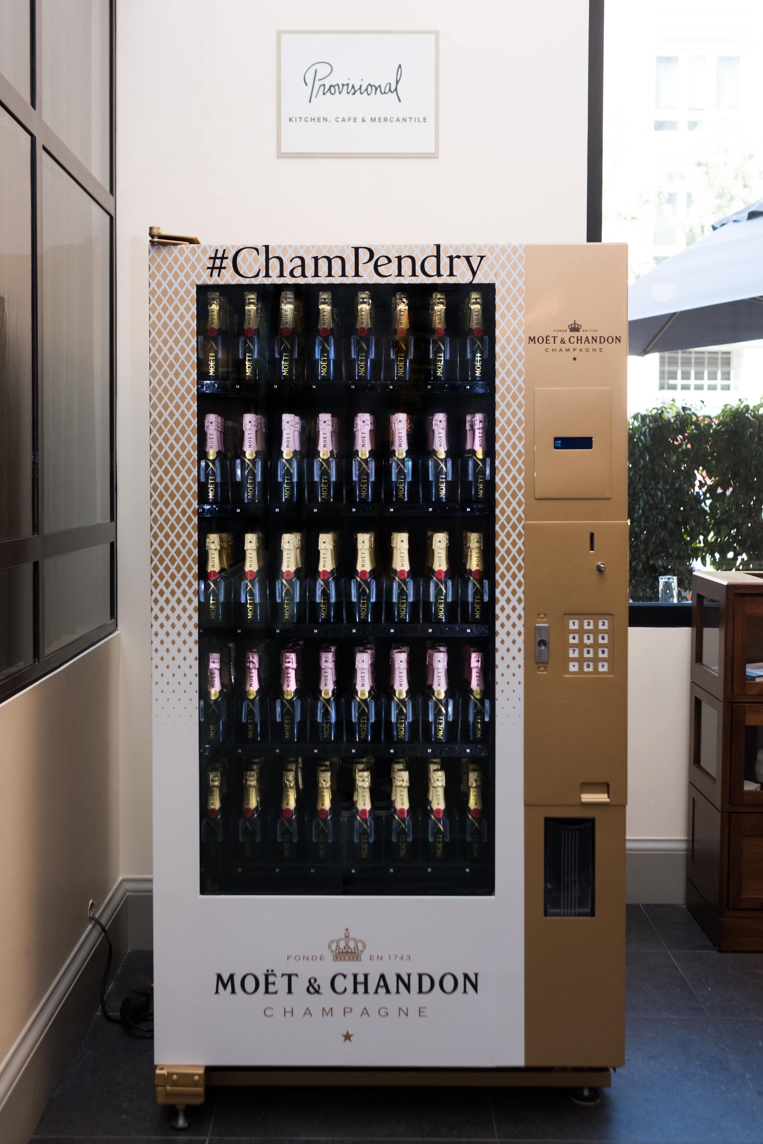 Pendry San Diego Moet & Chandon champagne vending machine