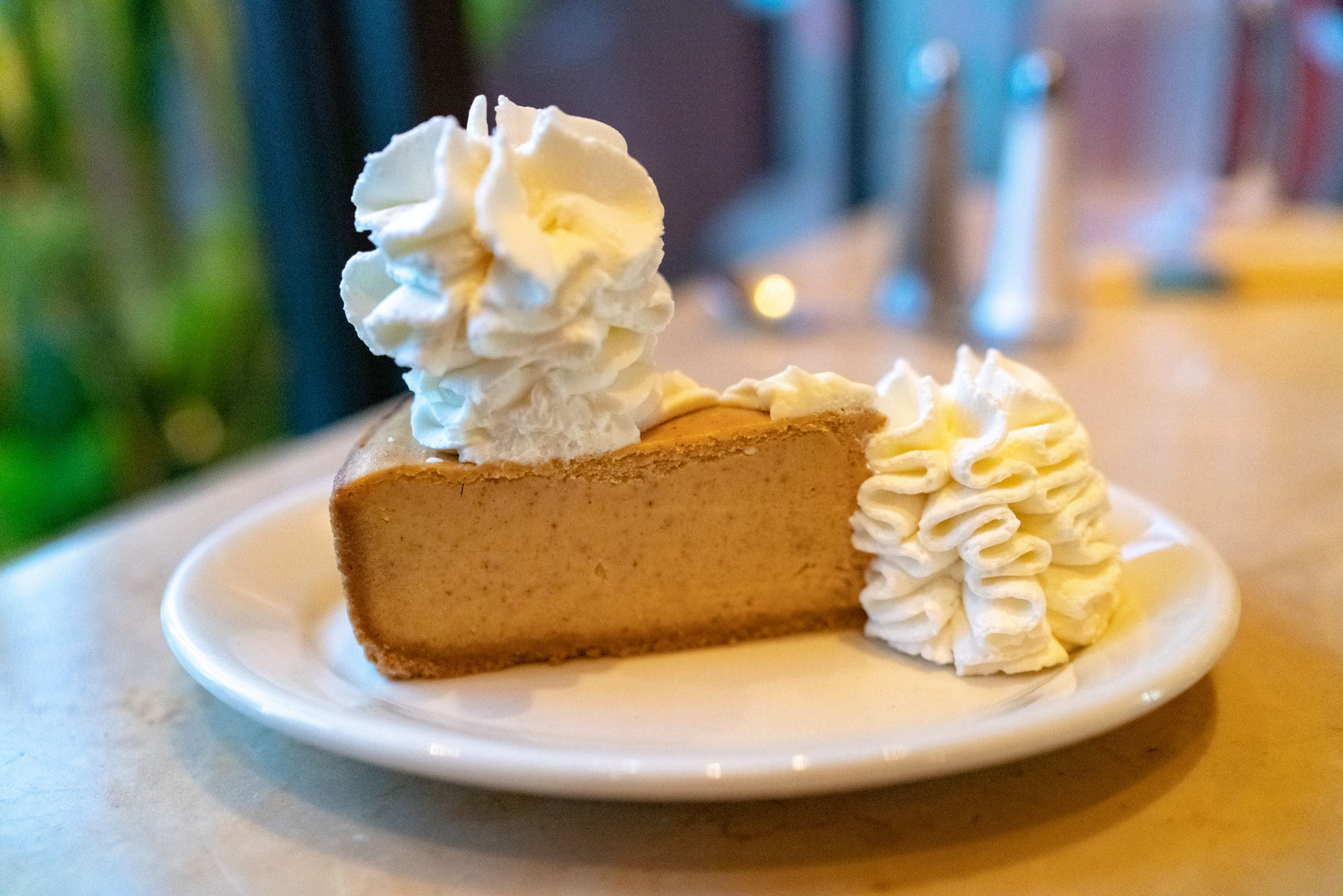 Pumpkin pie cheesecake at The Cheesecake Factory