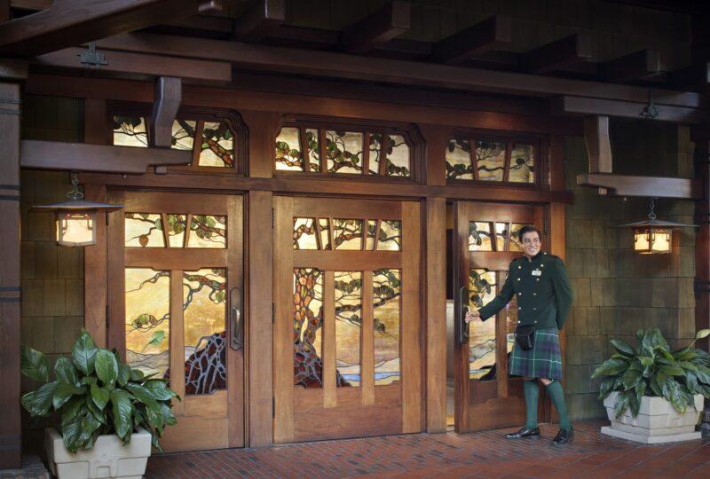 the lodge at torrey pines doorman kilt